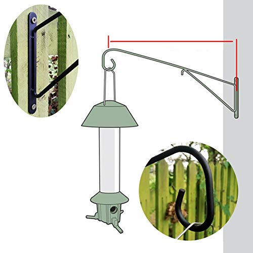 Roamwild PestOff Large Bird Feeder Wall Post Hanging Bracket Hook Hanger - Bird Feeder Wall Mounted Version - 40cm/18 inches by Roamwild
