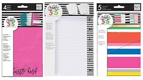 Mini Happy Planner Accessories Bundle - Mini Dashboard, Mini Fill Paper, and Mini Multi Dots Pocket Folders (3 Items: PLDM-01, FILM-01, FOLM-01)