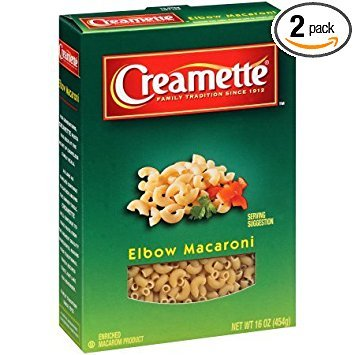 Creamette Elbow Macaroni Pasta 16 oz. (Pack of 2)