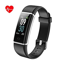 KALINCO Color Screen Fitness Trackers HR, Activity Tracker H...