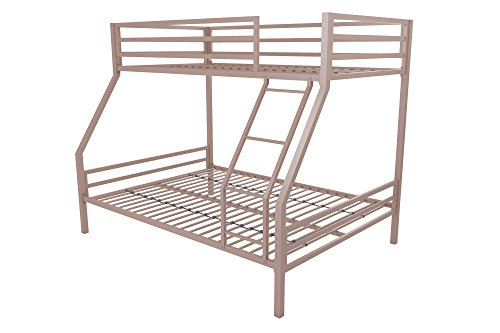 Novogratz Maxwell Twin/Full Metal Bunk Bed, Sturdy Metal Frame with Ladder and Safety Rails, ()