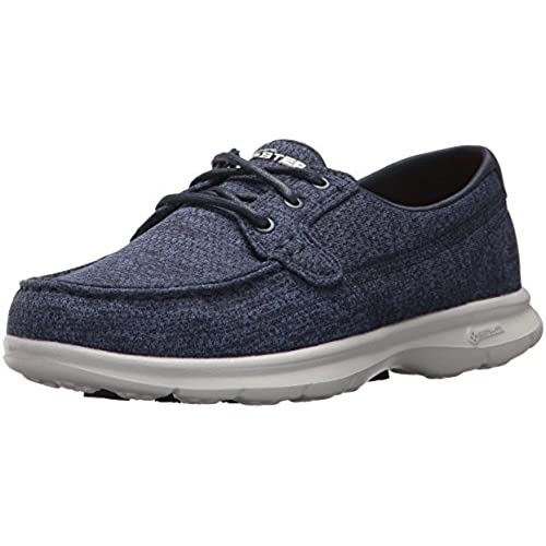 Performance Womens Go Step-Escape Boat Shoe,Gray,10 M US Skechers