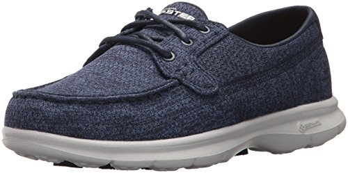Women's Go Step-Escape Boat Shoe,navy,7.5 M US ()