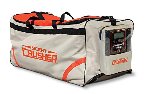 Scent Crusher Roller Bag with Ozone Generator - Destroys Odors within 30 mins., Heavy Duty Wheels, 9' Extentable Handle, Airport/TSA Compliant