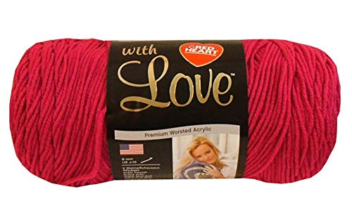 Red Heart With Love Yarn, Hot Pink