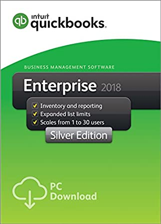 QuickBooks Desktop Enterprise 2018 - Silver Edition Business Management Software - 5 User [PC Download]