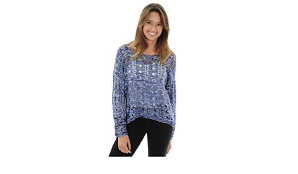0a7d68345 Romeo   Juliet Couture Women s Open Knit Sweater Romeo   Juliet Hi Low  Sweater at Amazon Women s Clothing store  Pullover Sweaters