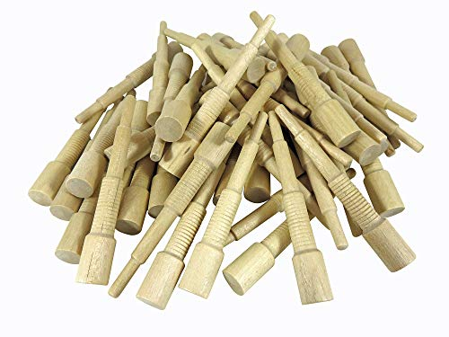"Miller Dowel B15D14-100 Pack of 100 Each 2X Stepped Birch Dowels 1/2"" Diameter for Stock up to 1-5/8"" Thick"