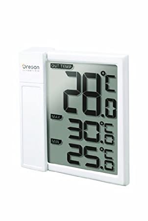Oregon Scientific THT-328 - Termómetro para ventana exterior, color blanco: Amazon.es: Jardín