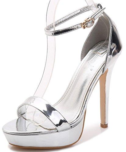 YooPrettyz Women Elegant Ankle Strap Platform Pumps Class...