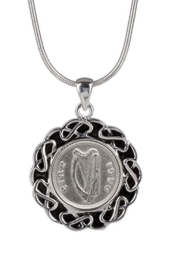 1956 - Irish Threepence Pendant - 63rd Birthday for Woman