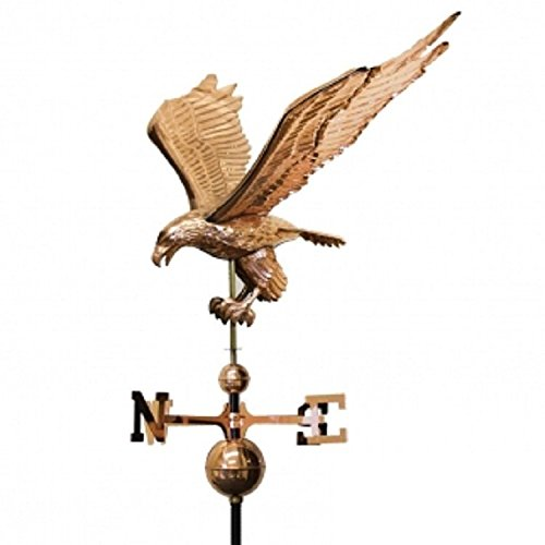 Copper Eagle Weathervane Weather Vane Full Body With Roof Mounting Hardware New