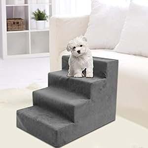 Alley.L Escaleras para Mascotas - Escaleras para Perros Escaleras para Mascotas Escaleras para esponjas Puppy Peluche Sofá Cama