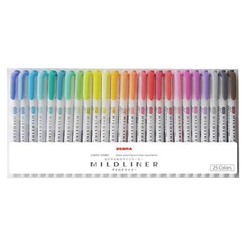 Zebra Mildliner 25 Colors set WKT7-25C