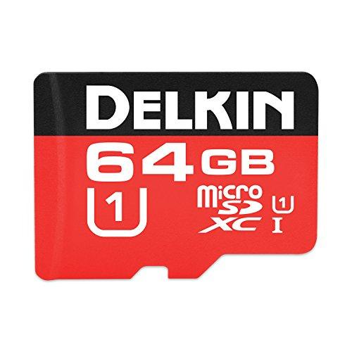 Delkin 64GB Microsdxc 500X UHS-I (U1) Memory Card (DDMSD50064GB)