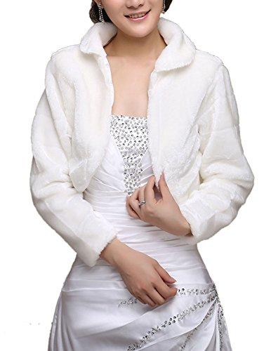 Poncho Giacche Sintetica Mantelle Cappotti Mantelli Scialle Pelliccia Bianco Donna Insun Soprabito R7qxgY4wY