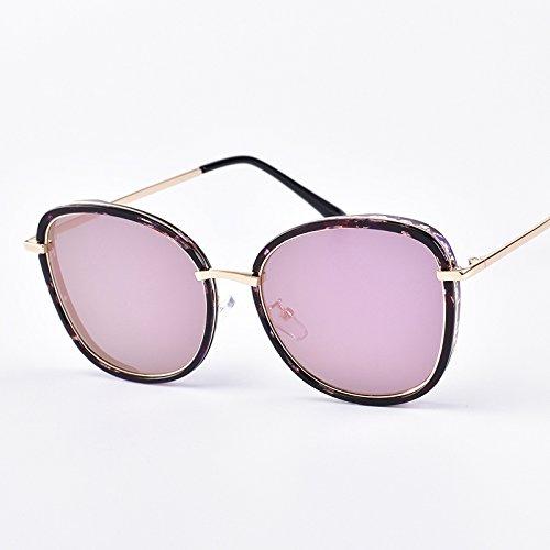 Populares PinkSpecklePowderReflective Sol Gafas Unisex Sol Floralframepowderreflective De Estilo Nuevas Retro Gafas Clásicas Moda De De De PRgw6