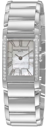 Baume & Mercier Women's 8748 Hampton Cuff Diamond (Diamond White Dial Watch)