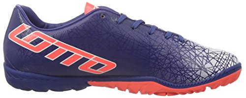 Lotto Men's Lzg VIII 700 TF Footbal Shoes Blue (Blu Twi/Red Fl) XdO3ngIk
