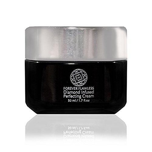 Forever Flawless Diamond Infused Perfection Cream - Infused w Natural Diamond Powder, Active Charcoal, and Hydroxy, Anti-Aging, Facial Moisturizer for Women, Anti-Wrinkle, FF101 (40ml)