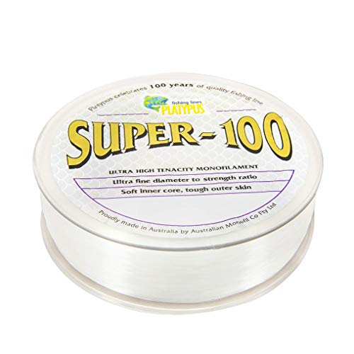 Platypus Super-100 – World's Strongest Fishing Line Since 1898! Clear (500m Spool, 50 lb) For Sale