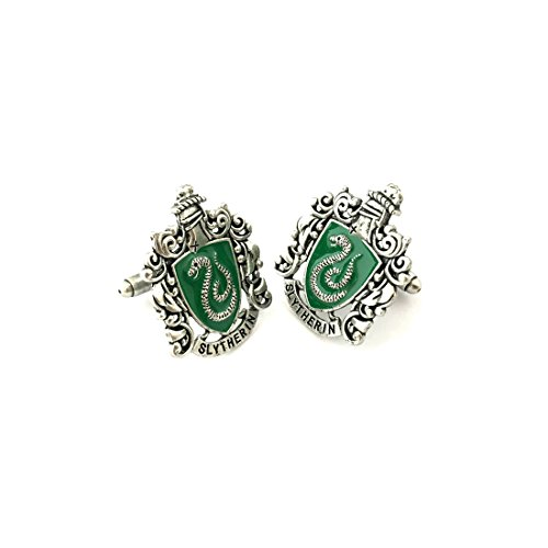 Harry Potter House Slytherin Cufflinks w/Gift (Assassin's Creed Halloween Costume Ideas)