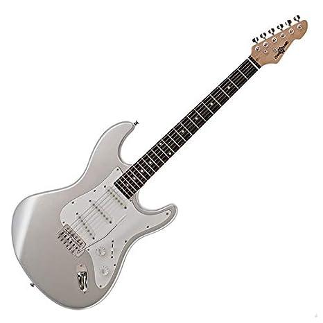 Guitarra Electrica LA de Gear4music - Plateada: Amazon.es ...