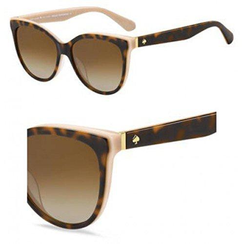 Kate Spade Women's Daesha/s Polarized Round Sunglasses, Havana Pink, 56 mm