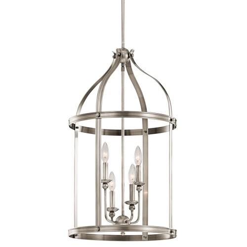 Kichler 43107CLP Four Light Foyer Pendant Entry Lantern Foyer Lights