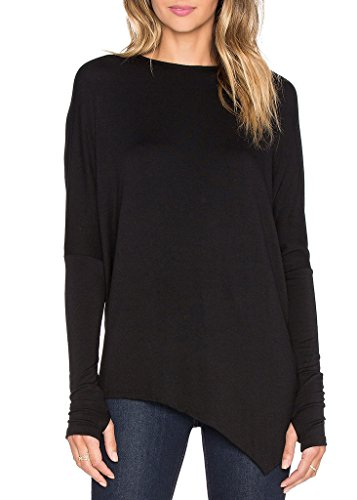 Ssyiz Black Long Sleeve Shirt Women   Black X Small