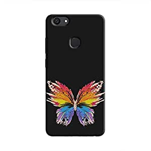 Cover It Up Rainbow Butterfly Hard Case For Vivo V7 Plus - Multi Color