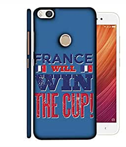 ColorKing Football France 02 Blue shell case cover for Xiaomi Mi Max 2