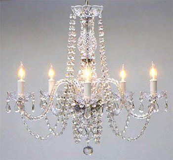 "Empress Crystal (tm) Chandelier Chandeliers Lighting H25"" x W24"""
