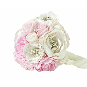 Lillian Rose Vintage Blush Wedding Bouquet 13