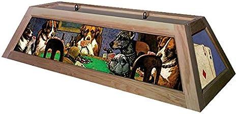 Perros jugar Poker mesa de billar luz: sin terminar: Amazon.es ...