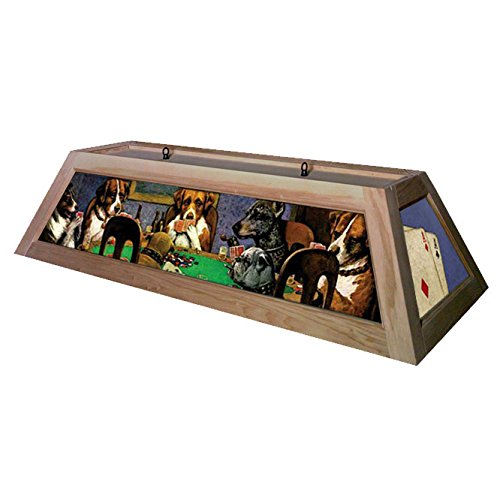 Dogs Playing Poker Pool Table Light - Raw/Unfinished
