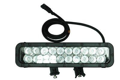 Infrared LED Light Bar - 20 IR LEDs - 60 Watts 750/ 850/ 940/ 1550NM - Extreme Environment - 800'L X(-Spot-750nm-Black)