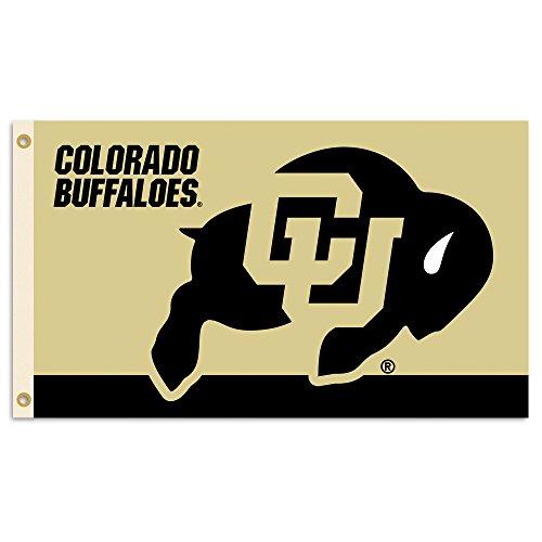 NCAA Colorado Buffaloes Flag with Grommets, 3 x 5-Feet, Team Color