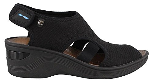 BZees Women's, Dream Mid Heel Sandal Black 10 W - Breeze Womens Sandals
