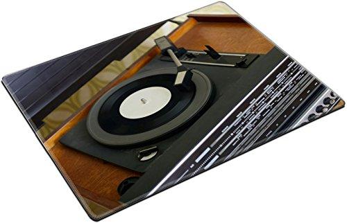 MSD Placemat Non-Slip Natural Rubber Desk Pads Place-mats Design 27392343 Retro Record Player Detail Shot