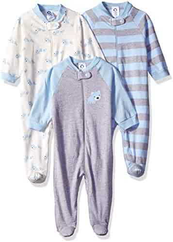 GERBER Baby Boys' 3-Pack Organic Sleep 'N Play