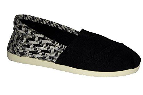 Brasileras Zick - Alpargatas unisex, color negro, talla 40