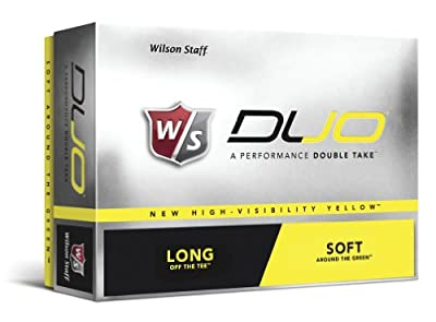 Wilson Sporting Goods Staff Duo Golf Balls, Pack of 12 (Yellow)