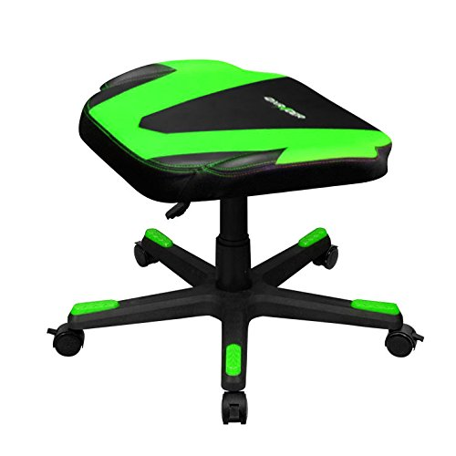 Cheap DXRacer DFR/FX0/NE Adjustable Storage Ottoman Footstool Chair Gaming Seat Pouf Furniture (Black/Green)