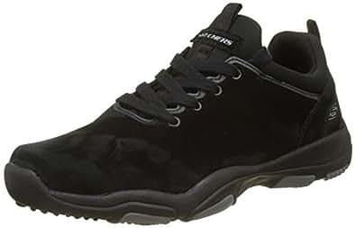 Skechers Larson-Raxton, Zapatillas de Entrenamiento para Hombre, Negro (Black), 39 EU