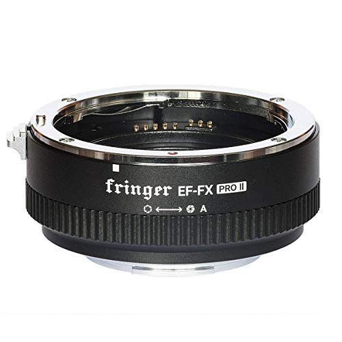 EWOOP EF-FX PRO II Fringer Fuji Auto Focus Mount Adapter Built-in Electronic Aperture Automatic Converter for Canon EOS EF Lens to Fujifilm X-T3 X-T4 X-Pro3 X-T200 X-A7 X-T100 X-T30 XH1 X-E XT2 series