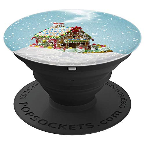 Gingerbread House Christmas Stocking Stuffer - PopSockets Grip and Stand for Phones and Tablets (Gingerbread House Stocking)
