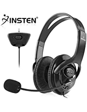 Insten Headset Headphone with Mic Compatible with Xbox 360 Wireless Controller, Black