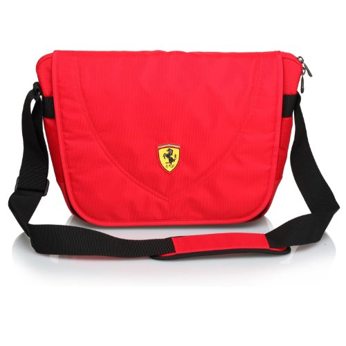 Ferrari Casuals Travelers Messenger Bag (Red) by Ferrari