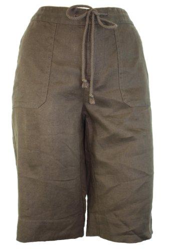 Lizwear Linen Shorts Brown Small
